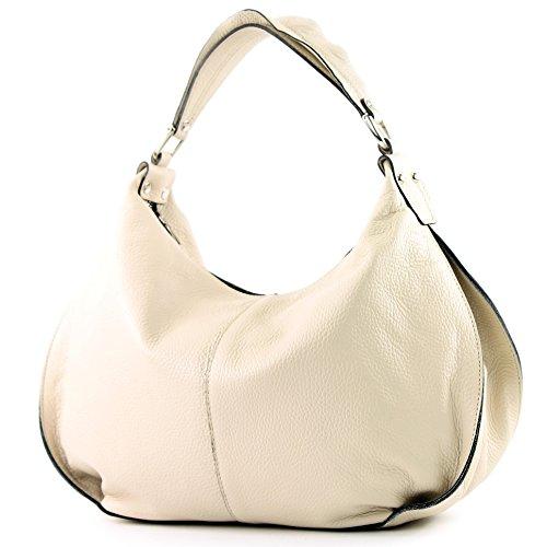 modamoda de -. ital señoras de bolso de cuero del bolso del bolso de hombro del bolso de cuero T143 Creme