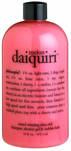 Philosophy Melon Daiquiri Shampoo/Shower Gel/Bubble Bath, 16 Ounces