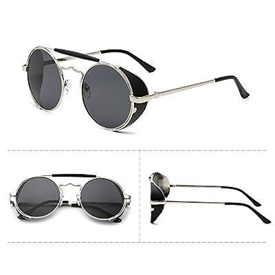 Sunyan Lunettes de soleil femme coréenne marée visage rond de style élégant nouveau  lunettes Lunettes de personnalité ronde dame 3275 77067f9073d3