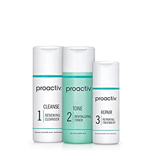 Proactiv 3 Step Acne Treatment – Benzoyl Peroxide Face Wash, Repairing Acne Spot Treatment for Face and Body…