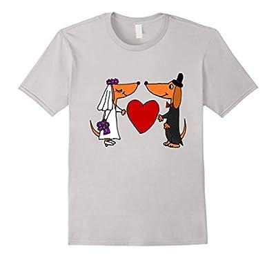 Smiletodaytees Funny Dachshund Dog Wedding T-shirt