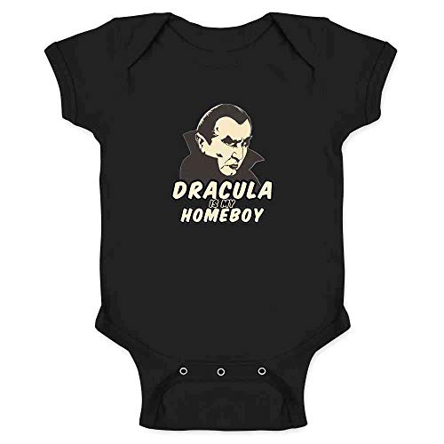 (Pop Threads Dracula is My Homeboy Halloween Costume Vampire Black 6M Infant)