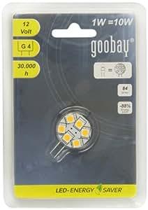 Goobay 30332 - Chip LED para focos. luz blanca (casquillo G4, 6 SMD LED)