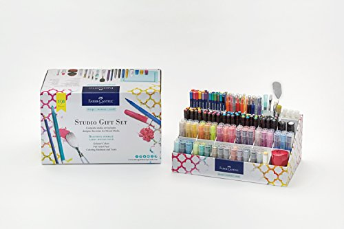 Faber-Castell Studio Caddy Premium Gift Set - Complete Mixed Media Set for Beginners