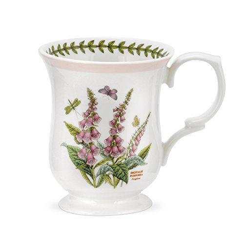 PORTMEIRION BOTANIC GARDEN TERRACE Bell shape mugs asst set of 4