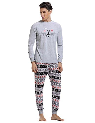 Aibrou Conjunto Familia Navidad Divertidos 100% Algodón y Conjunto de Pijama de Manga Larga: Amazon.es: Ropa y accesorios