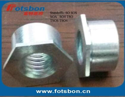 Nuts SO-M6-4, Thru-Hole Threaded Standoffs,Carbon Steel,zinc,PEM Standard,in Stock.