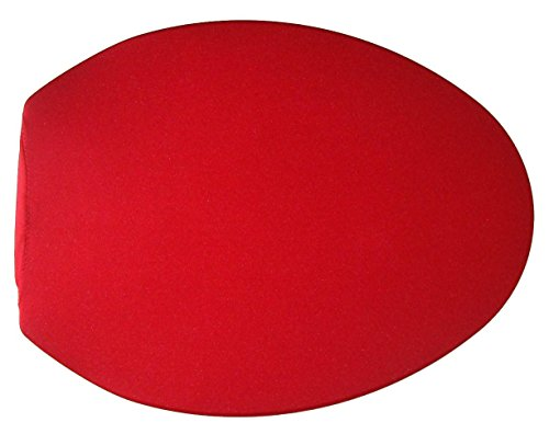 Fabric Cover for a lid Toilet SEAT fits on Standard/Elongated Models - Handmade by us in USA (Red) by NCC New Concept Cover