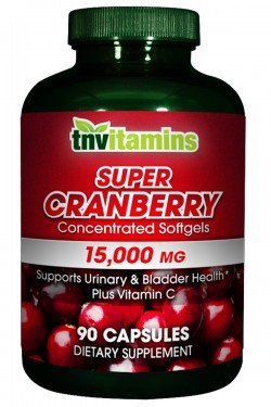 TNVitamins Cranberry 15,000 Mg Super Concentrated- 90 Capsules