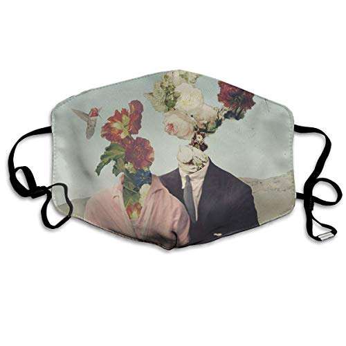 Washable Face Mouth Cover Mask - Warm Reirator Floras Couples Print Earloop -