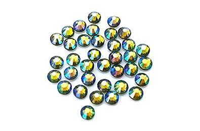 EIMASS® DMC Hot Fix Flat Back Rhinestones, Glass Diamantes, Crystals, Gems, Pack of 1440 Crystals