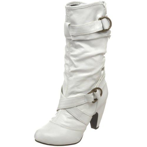 Etiketter Kvinna Duet01 Samlade Tvärfastspänd Boot Vit