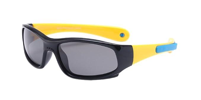 KINDOYO Unisexo Polarizadas Gafas de Sol Deportes y Actividades para Niños Niñas Flexible Rubber Gafas ,