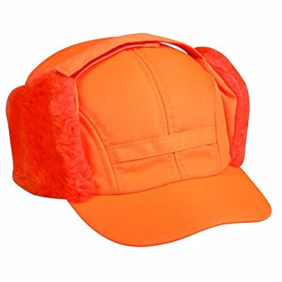 Outdoor Cap with Ear Flaps, One Size, Blaze