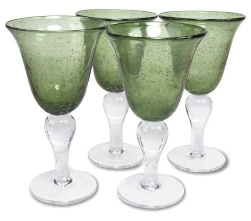 Green Glass Goblet - Artland 50955B Glass Goblet, One Size, Sage