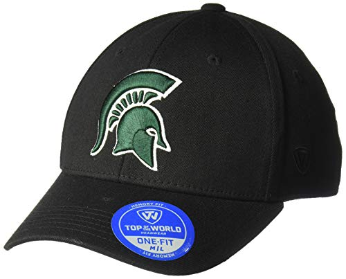 Top of the World Michigan State Spartans Men's Memory Fit Hat Icon, Black, One Fit