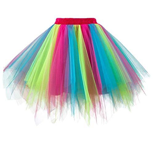 Girstunm Women's 1950s Vintage Petticoats Bubble Tutu Dance Half Slip Skirt -