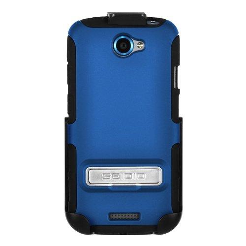 Seidio BD2 - HK3HTNESK - HTC One S用メタルキックスタンドケース/ホルスターコンボ付きRB DILEX - コンボパック、小売包装(ロイヤルブルー)   B008AFYZUI