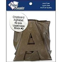 "Accent Design Paper Accents ADPALPHA.5 Alpha 4"" Block#2 Upper Chip"