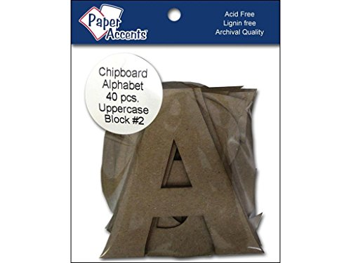 Accent Design Paper Accents ADPALPHA.5 Alpha 4'' Block#2 Upper Chip by Accent Design Paper Accents