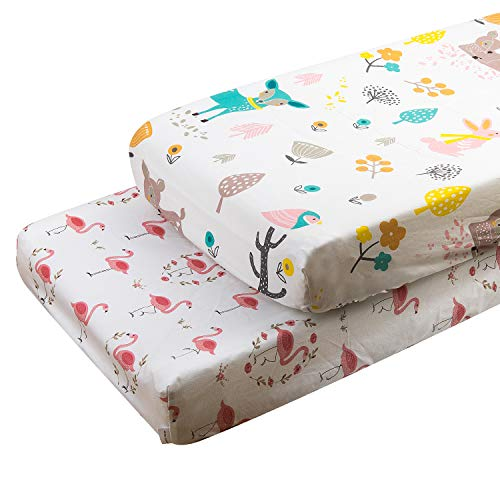 ALVABABY Changing Pad Covers 2pack 100% Organic Cotton Soft and Light Baby Cradle Mattress for Boys and Girls 2TWCZ08