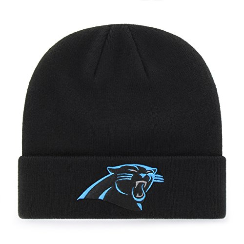 6e0582c8 NFL Carolina Panthers OTS Raised Cuff Knit Cap, Black, One Size