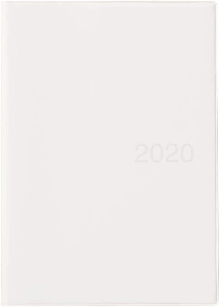 MUJI 2020 Fine Paper Schedule Note A5 Size (5.8 x 8.3 in) Monthly/Weekly Notebook White Gray Beginning December 2019
