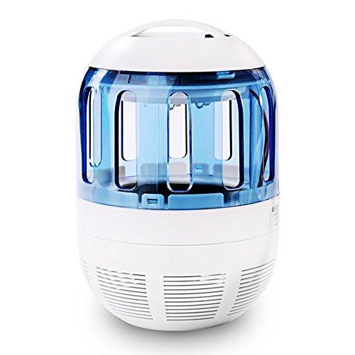 Insektenvernichter Elektrisch Ultravioletter LED Insektenlampe Indoor Mückenfalle Mücken Beseitiger Insektenfalle UV Mückenlampe mit Ventilator, Frei von Chemikalien für zu Hause von Zuoao
