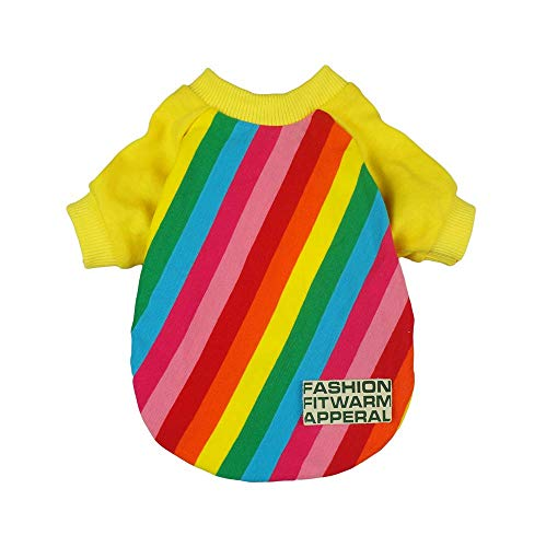 Fitwarm Rainbow Pet Clothes for Dog Shirts Pullovers Tshirts Cat Apparel