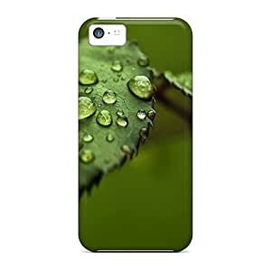 Shock-dirt Proof Rose Leaves Drops Case Cover For Iphone 5c