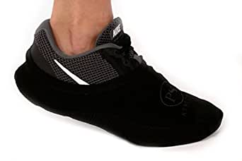 PS Athletic Shoe Covers for Dancing, Socks Over Shoes, Overshoes for Sneakers, Smooth Pivots & Turns,Black,One Size