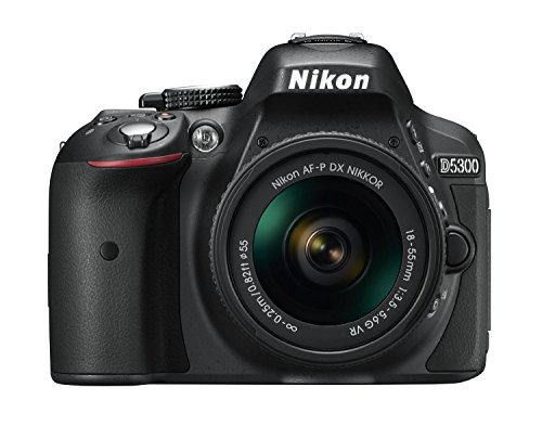 Nikon D5300 Digital SLR Camera - Black (24.2 MP, AF-P 18-55mm VR Lens Kit) 3-Inch LCD Screen - International Version (No Warranty) ()