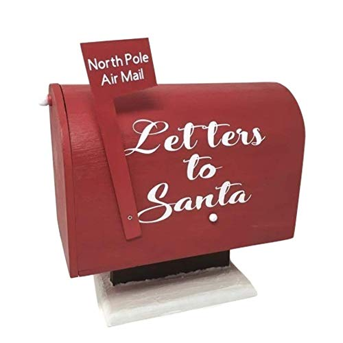 Wooden Letters to Santa Mailbox, Christmas Postal Mailbox, North Pole Mail