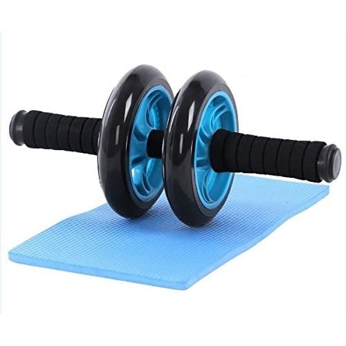 ectxo Roller abdominaux AB Wheel Roller à ventre des muscles abdominaux Bleu