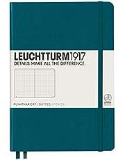 Leuchtturm1917 359696 Hardcover A5 Medium Notebook Pacific Green - Dotted