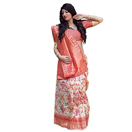 DesiButik's Party Wear Graceful Multicolor Banarasi Silk Saree