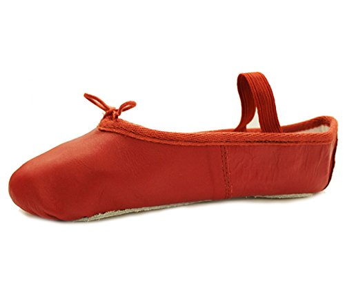 and Pink Ballet Sole Adult for Leather Shoe Full Child Bd8YExfqqw