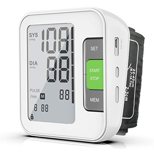 [2019 New] Blood Pressure Monitor, Fully Automatic Upper Arm BP Machine with Cuff 8.7″ – 15.7″, 240 Memory, 2 Users, LCD, Intelligent Broadcast – FDA Approved