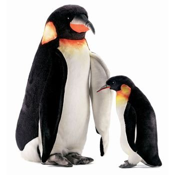 Hansa Emperor Penguin Stuffed Plush Animal, Small