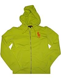 Polo Ralph Lauren Women\u0027s Big Pony Zip Up Hoodie-NeonYellow-Large