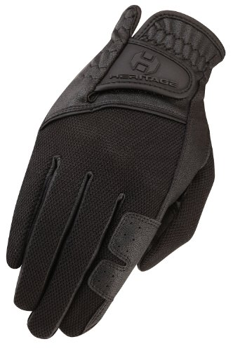 Heritage X-Country Gloves, Size 7, Black - Heritage Competition Gloves