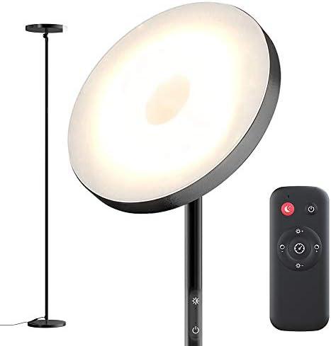 Floor Lamp,30W Sky Super Bright 2800K-7000K Torchiere Floor Floor Lamp