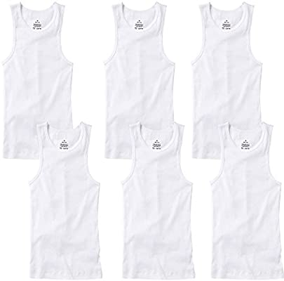 Athletic A-shirt//Wife Beater//100/% Cotton BEST VALUE Men/'s Tank Top PACK OF 6