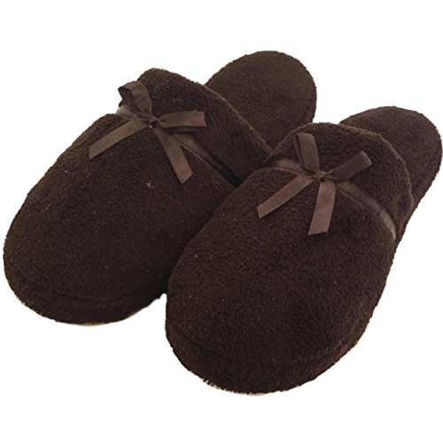 Women's Fuzzy Soft Sole Velvet Lounge House Shoes Indoor Slippers Sandals Flip Flops (7/8, ()