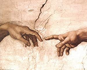 Amazon.com: The Creation of Adam (fragment) by Michelangelo ...