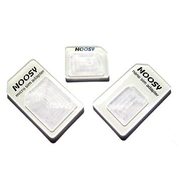 Amazon.com: Nano SIM a adaptador Micro/Standard SIM + ...