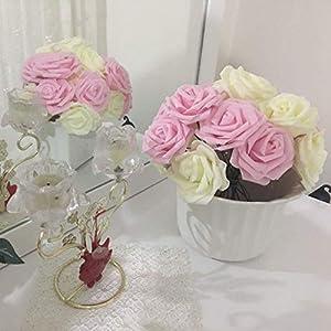 10 Heads 8Cm Pretty Charming Artificial Flowers Pe Foam Rose Flowers Bride Bouquet Home Wedding Decor Scrapbooking DIY Supplies 2