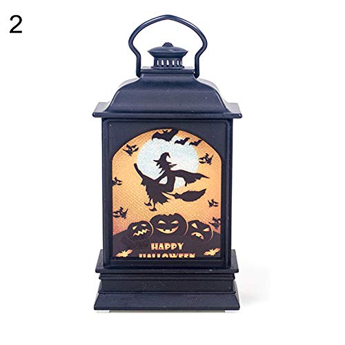 Finance Plan Happy Halloween Creative Witch Pumpkin Print Hanging LED Lantern Light Party Decor -