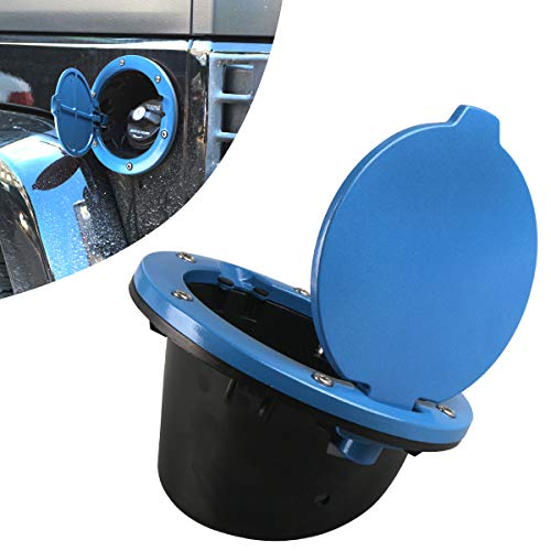 DDUOO Blue Jeep Gas Cap Cover Fuel Gas Door Cover for Jeep Wrangler JK & Unlimited JK 2007-2017 Sport Sahara Rubicon