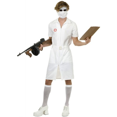 [Twisted Nurse Costume - Large - Chest Size 42] (Nurse Costumes For Teens)